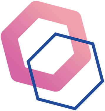 Endoscopy and Surgical Associates Logo constructed of two overlapping hexagonal shapes
